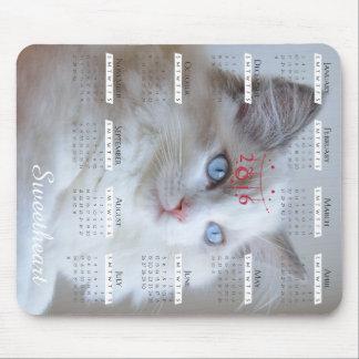 Boris SugarPuffs mousepad med kalender 2016 Musmatta