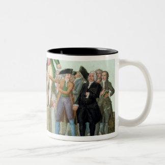 Början av den franska revolutionen Två-Tonad mugg