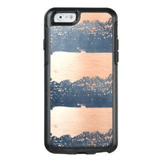 Borsta slår Denimblått & rosor OtterBox iPhone 6/6s Fodral