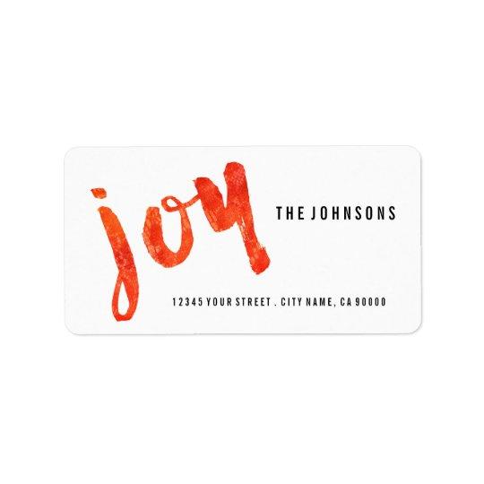 Borstad adressetiketter för glädjeavslappnadjul