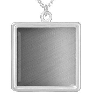 Borstad Aluminum metallLook Silverpläterat Halsband
