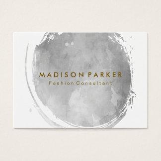 Borstad grå vattenfärg för contemporary visitkort