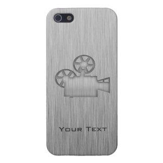 Borstad Metall-look filmkamera iPhone 5 Skal