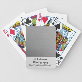 Borstad metall spelkort