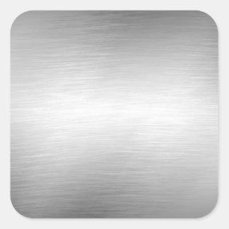 Borstade metallLookklistermärkear Fyrkantigt Klistermärke