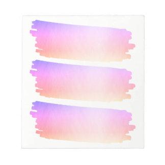 Borstar den rosa lavendelvattenfärgen för anteckningsblock