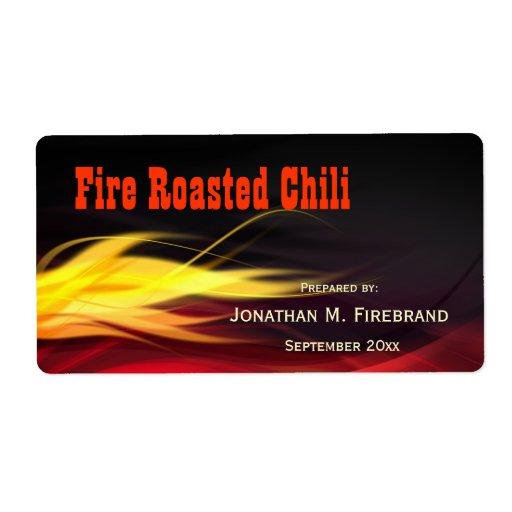 Borstat flammar chilien eller shoppar etiketten fraktsedel