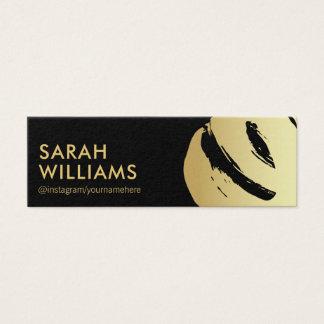 Borstat företags guld litet visitkort