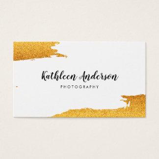 Borstat guld- glitter visitkort