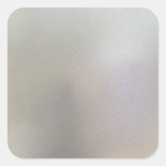 Borstat stålsätta grå färg för fyrkantigt klistermärke