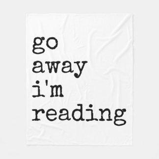 Bort går jag den läs- filten för förmiddagen fleecefilt