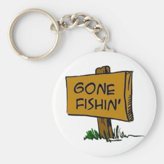 Borta Fishin Keychain (i 3 stilar) Rund Nyckelring