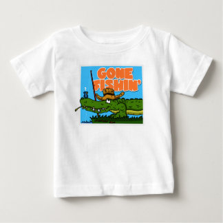Borta Fishin småbarnutslagsplats Tee Shirts