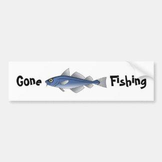 Borta fiske bildekal