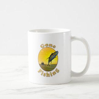 Borta fiske kaffemugg