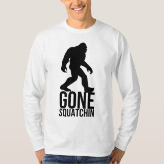 Borta squatchin för stor fot t-shirts