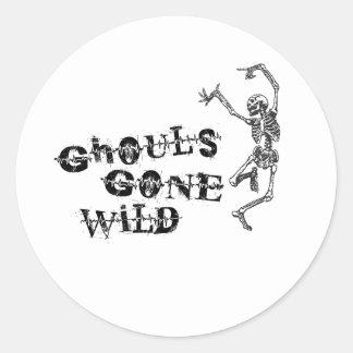 Borta vild för Ghouls Runt Klistermärke