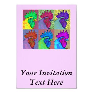 Borta vild för tuppar! 12,7 x 17,8 cm inbjudningskort