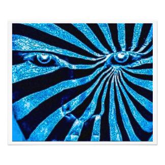 Bortbytingen (nära övre för blått) fototryck