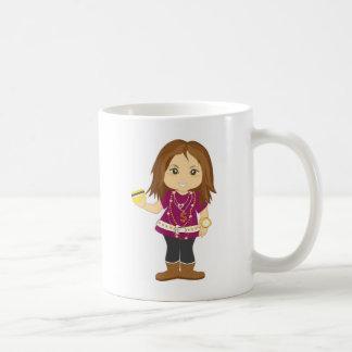 Bortskämd flicka kaffemugg