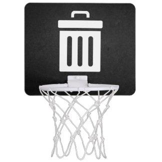 Borttagnings slänga i soptunnan symbolen Mini-Basketkorg