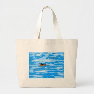 borttappad-på-hav tote bags