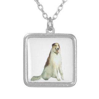 Borzoi rysk Wolfhound A Anpassningsbara Smycken