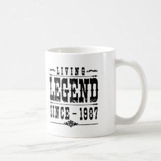 Bosatt legend efter 1987 kaffemugg