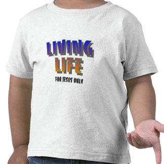 Bosatt liv för Jesus endast det kristna ordstävet Tröja