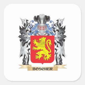 Boscher vapensköld - familjvapensköld fyrkantigt klistermärke