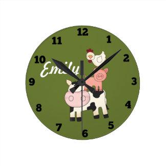 Boskapungar tar tid på rund klocka