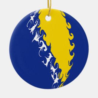 Bosnien - herzegovina Gnarly flagga Julgransdekorationer