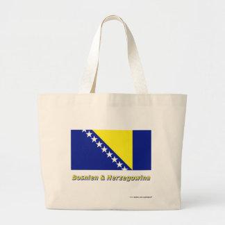 Bosnien & Herzegowina Flagge mit Namen Tote Bag
