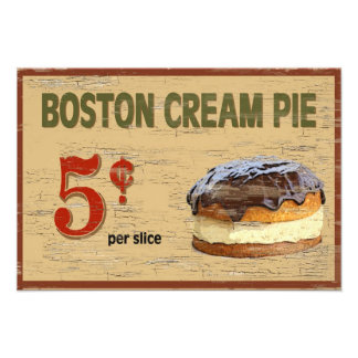Boston kräm- paj fototryck