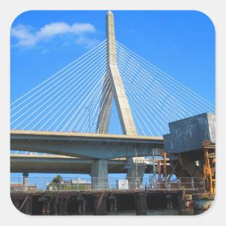 Boston överbryggar fotoet på gåvor fyrkantigt klistermärke