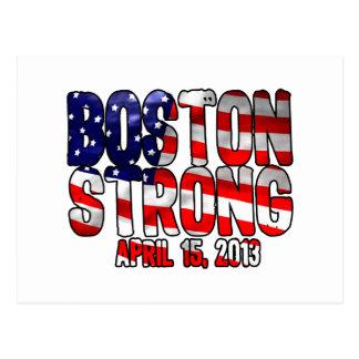 Boston stark flagga vykort