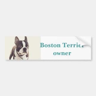boston terrier bildekal