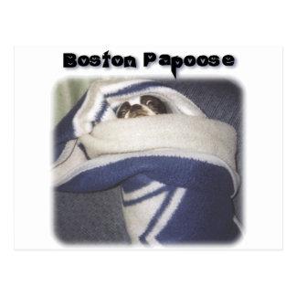 Boston Terrier:  Boston Papoose Vykort