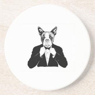 Boston Terrier Underlägg För Glas