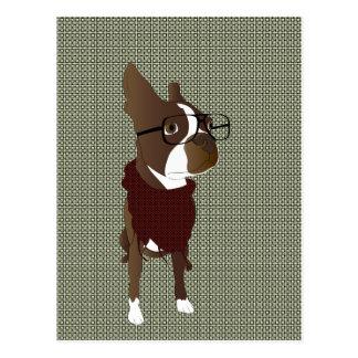 Boston Terrier Vykort