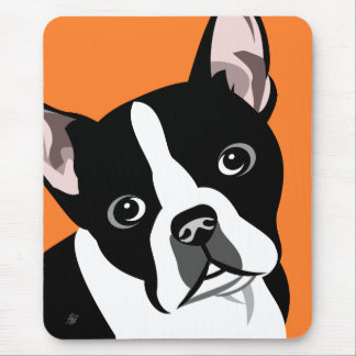 Boston Terrierhund Mousepads Musmatta