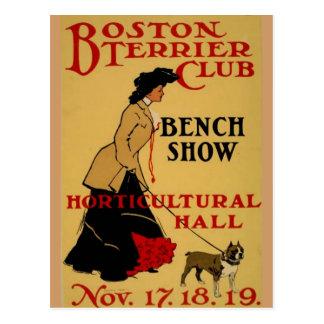 Boston Terrierklubb Vykort
