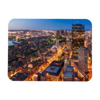 Bostons horisont på skymningen magnet