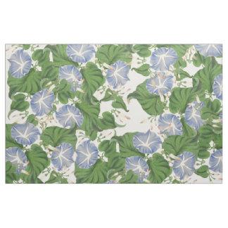 Botanisk blåttmorgonhärlighet blommar blom- tyg