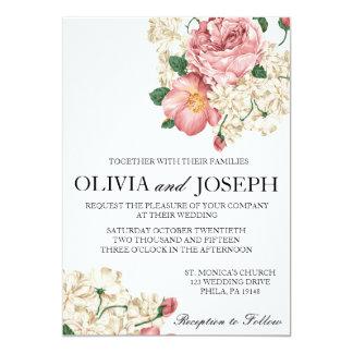 Botanisk bröllopinbjudan för vintage 12,7 x 17,8 cm inbjudningskort