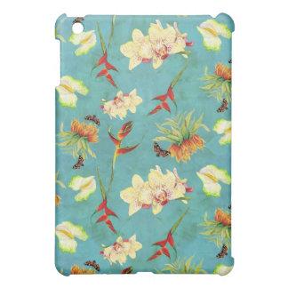 Botanisk fjärilsstrand för tropisk blom- Orchid iPad Mini Mobil Fodral