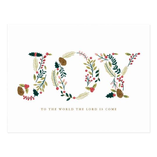 Botanisk glädjejulhälsning vykort