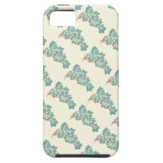 Botanisk murgröna för höstsäsong och bärmönster iPhone 5 skydd