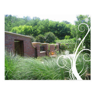 Botanisk trädgårdtegelstenvägg Notecard Vykort