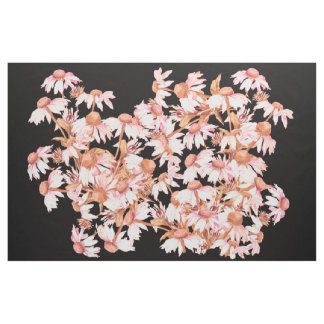 Botaniska Coneflower blommar blom- tyg